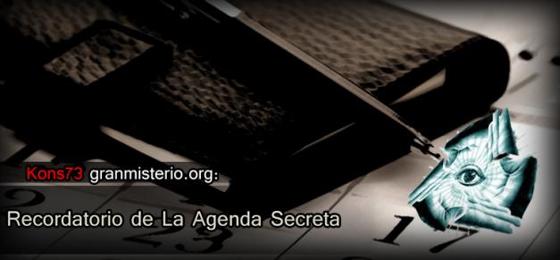 recordatorio de la agenda secreta