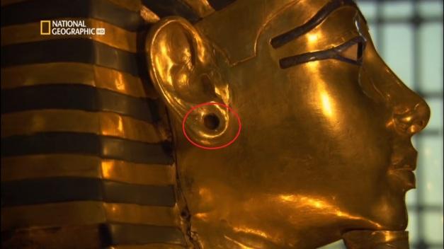 "orejas agujereadas - Vida y Muerte de Tutankamon, ""El Faraón Niño"""