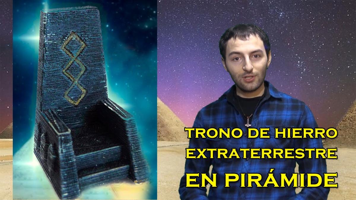 ¿Existe un TRONO DE HIERRO EXTRATERRESTRE en la pirámide de Keops?